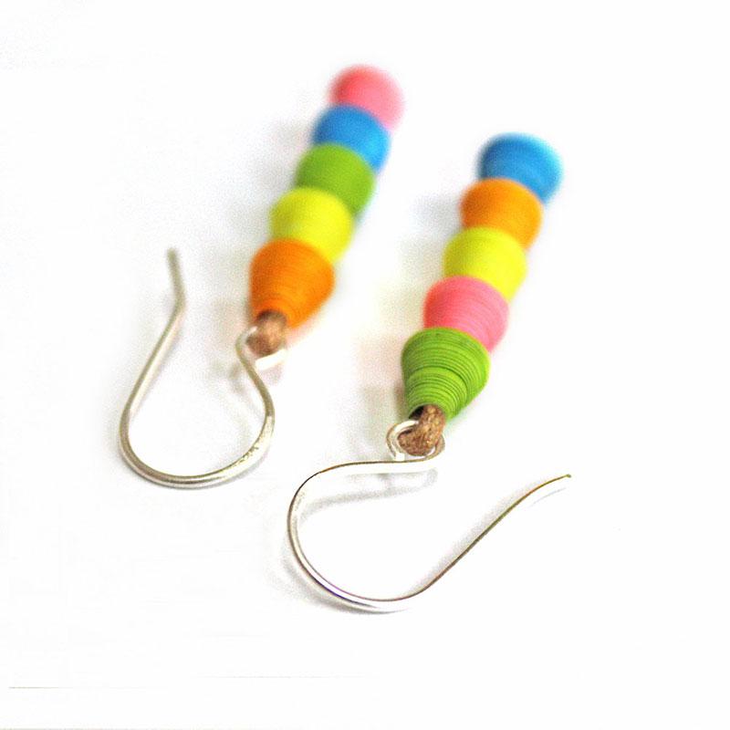 unique colorful neon earrings