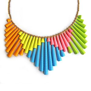 Big Colorful Statement Necklace Neon Jewelry