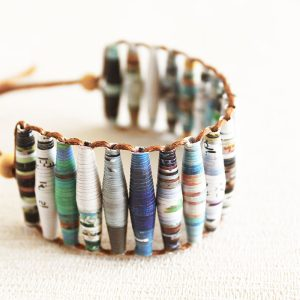 Travel Magazine Bracelet Boho jewelry Travel Gift