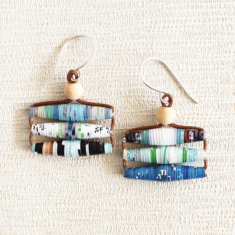 Travel Magazine Earrings Gift for Travel Lover\
