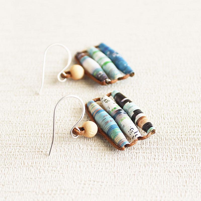 gift for travel lover paper earrings