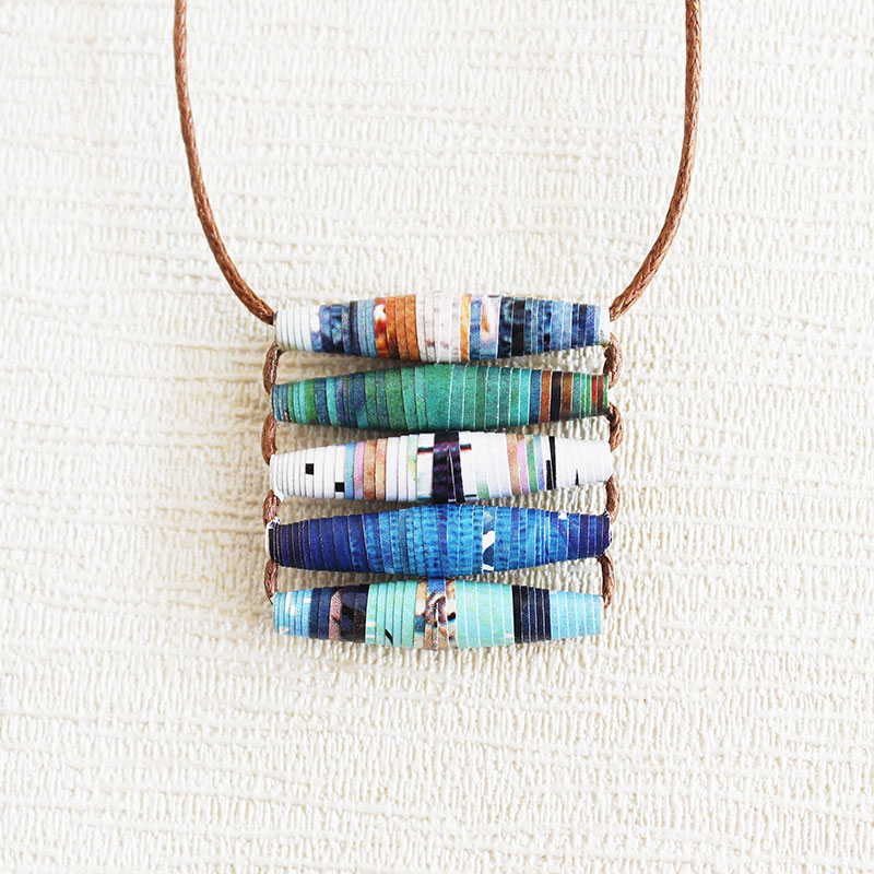 Travel Magazine Necklace Gift for Traveler