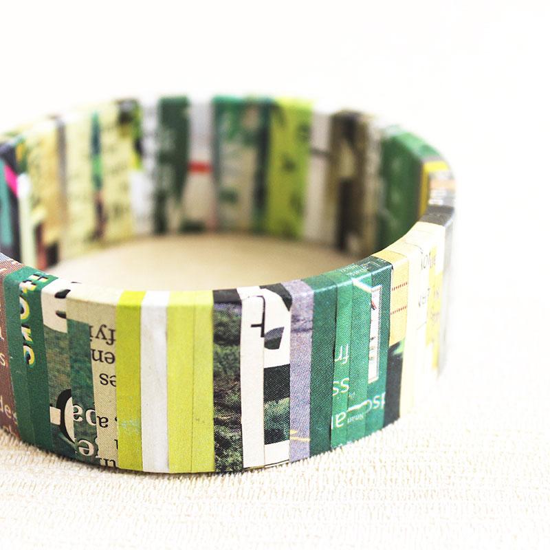newspaper bracelet earth friendly jewelry