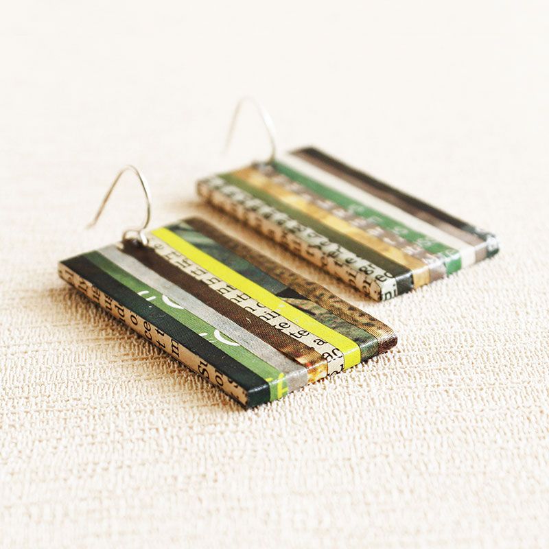 eco lover gift recycled newspaper jewelry