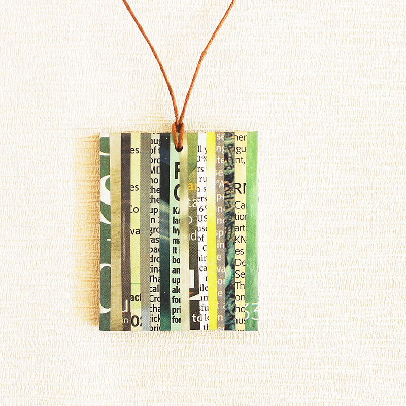 newspaper necklace eco friendly jewelry