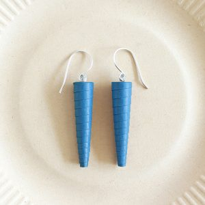 Azure Blue Minimalist Dangle Earrings