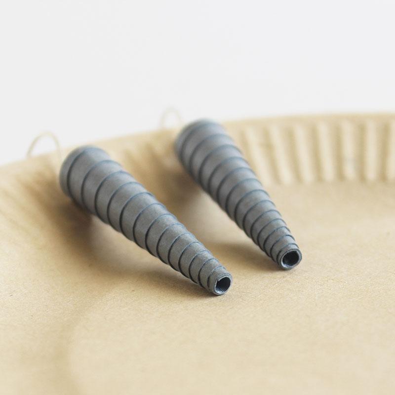dark grey statement dangle earrings