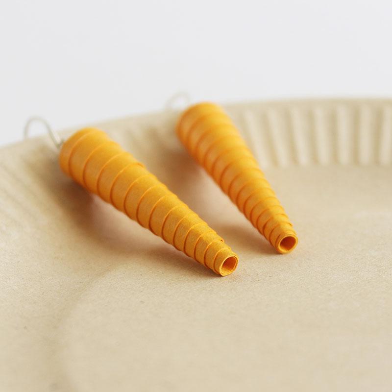 Marigold Yellow Statement Dangle Earrings