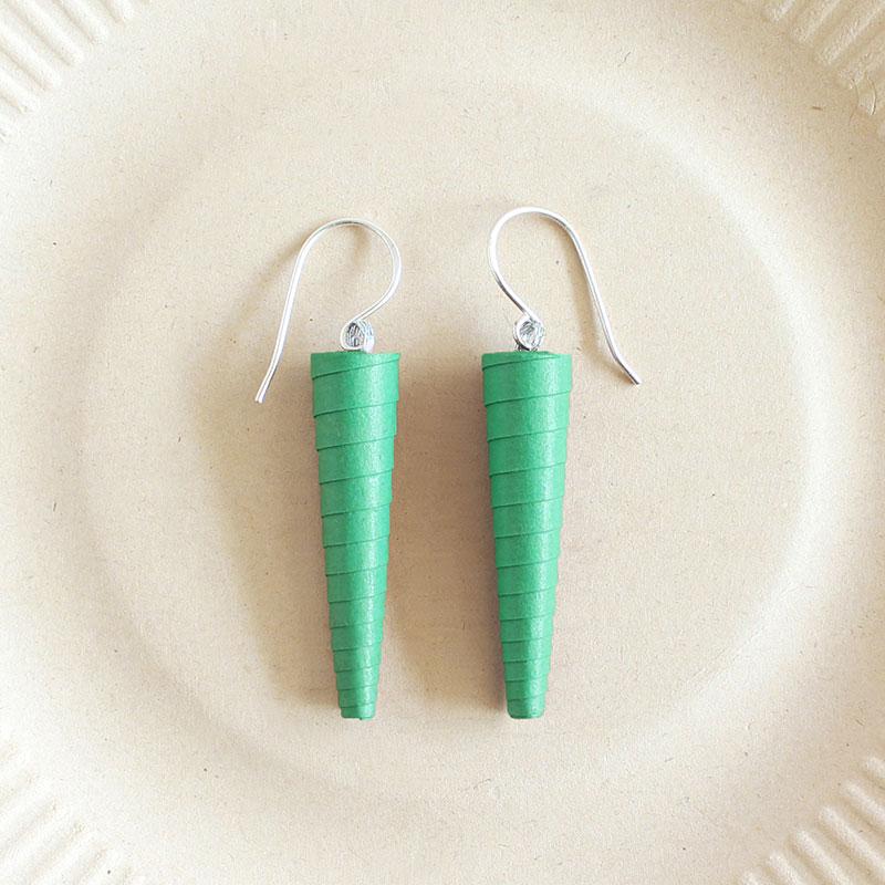 meadow green sea green pastel earrings