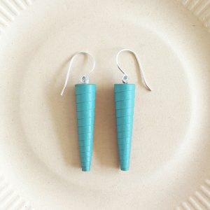 Turquoise Blue Long Statement Earrings