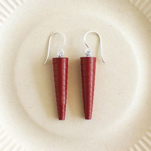 Wine Red Earrings Maroon Earrings