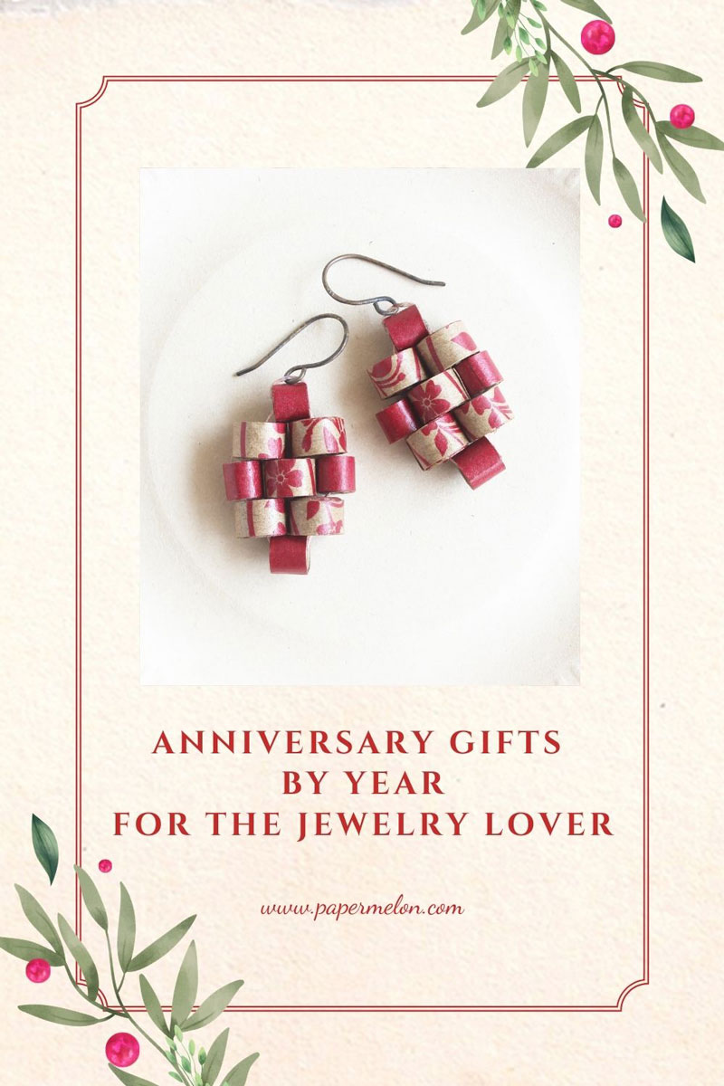 anniversary gifts by year for jewelry lover