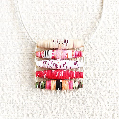 Pastel pink summer necklace
