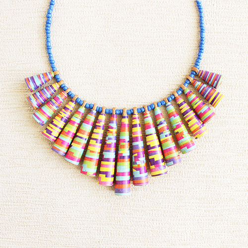 Fringe necklace for summer