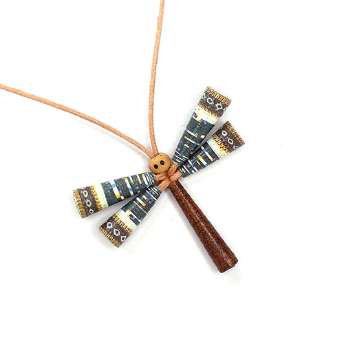 Dragonfly necklace for summer
