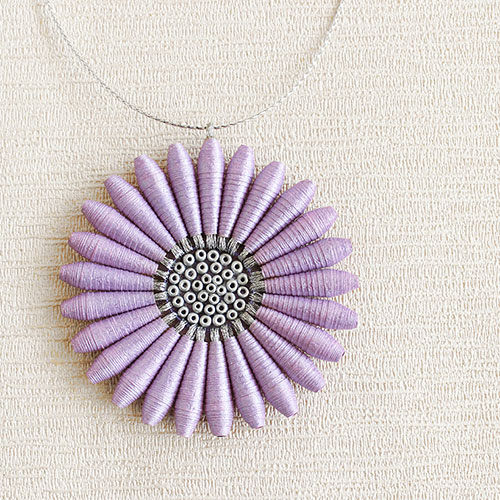 Lilac floral necklace for summer 2018