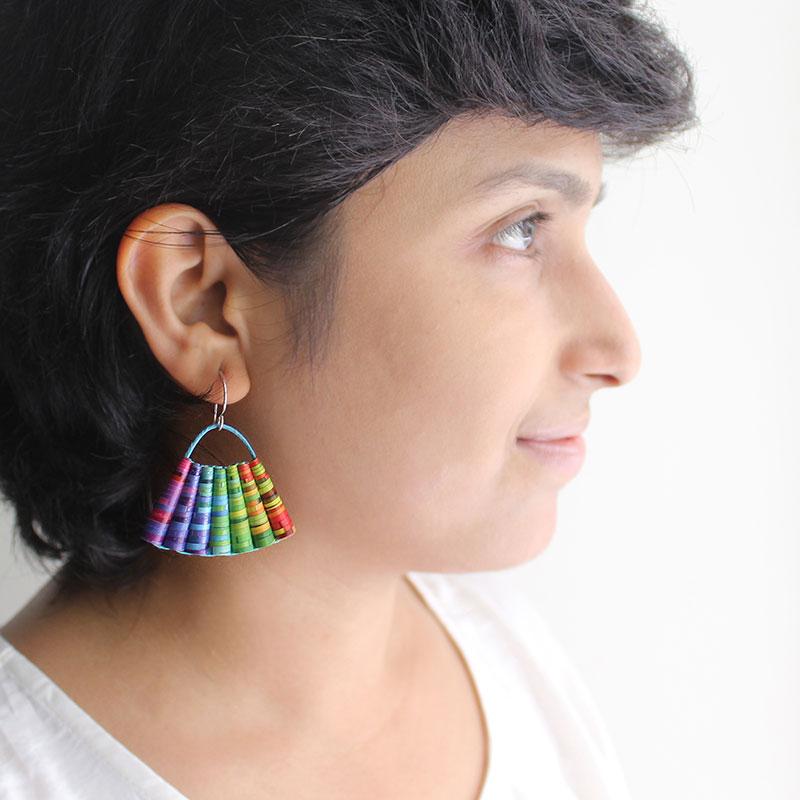 rainbow earrings Colorful Summer Jewelry