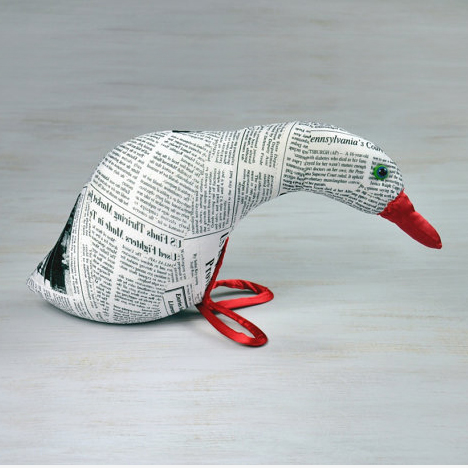 newspaper print goose