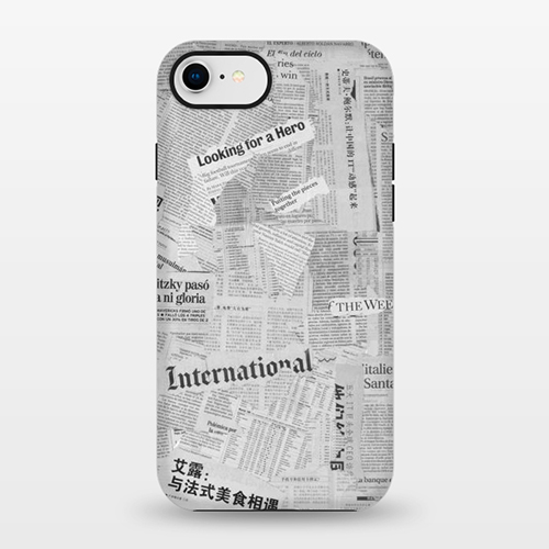 newspaper print phone case