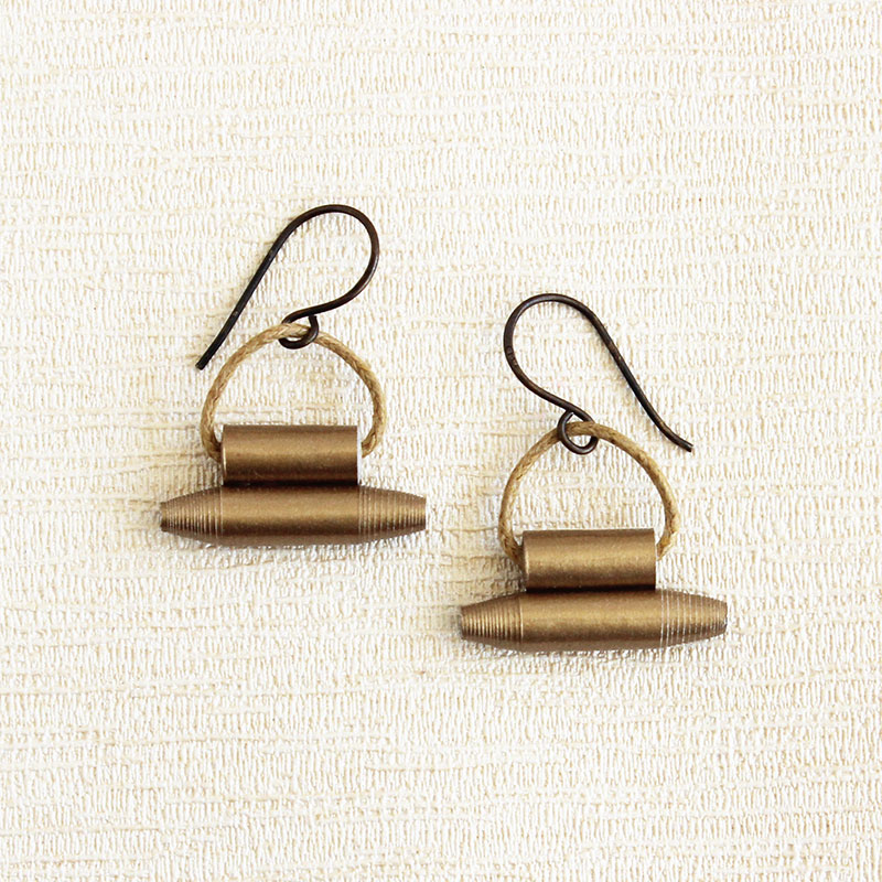 traditional Indian dangle earrings protective amulet inspired