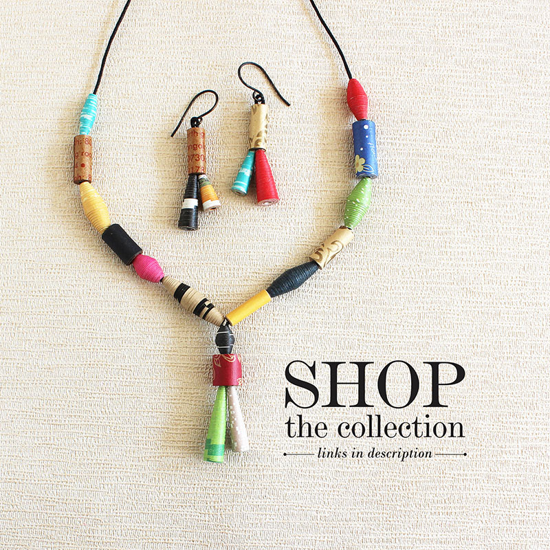 sustainable paper jewelry collection