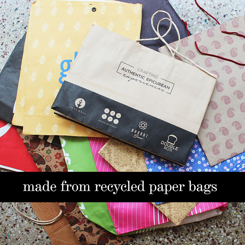 Paper bags to be upcycled to jewelry