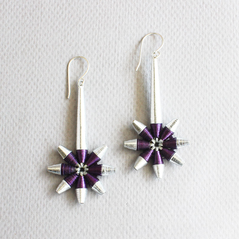 shooting star shaped earrings celestial jewelry