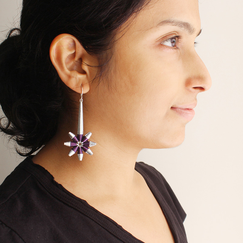shooting star statement dainty long dangle earrings
