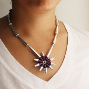 shooting star necklace celestial jewelry