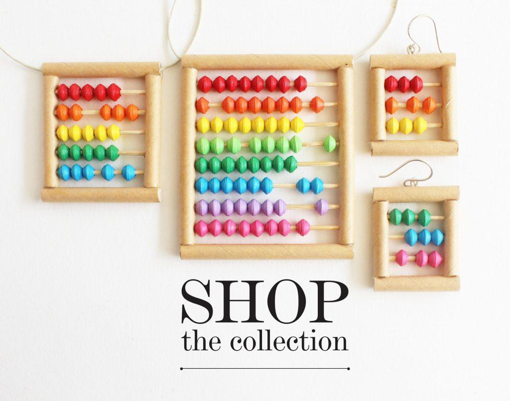 abacus jewelry math gift