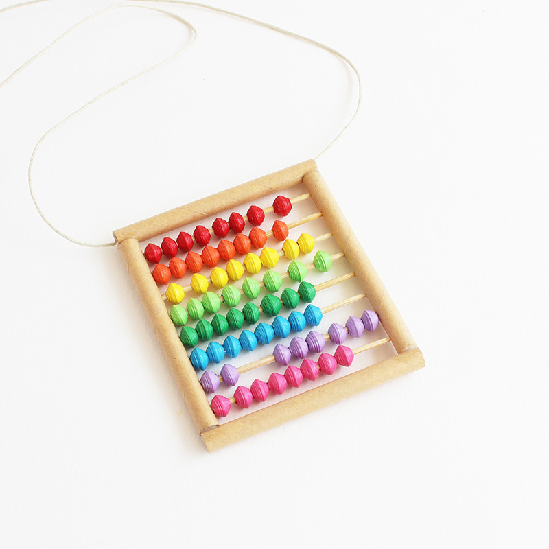 creative abacus necklace