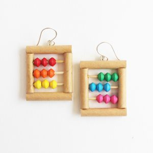 colorful abacus earrings