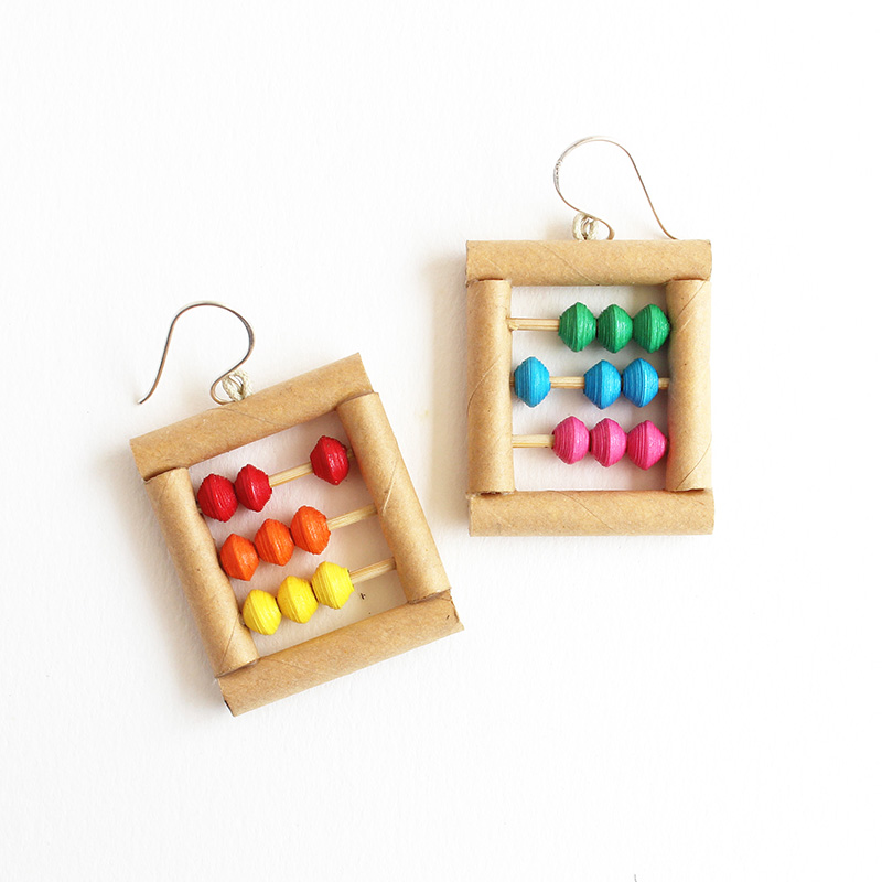 quirky abacus earrings