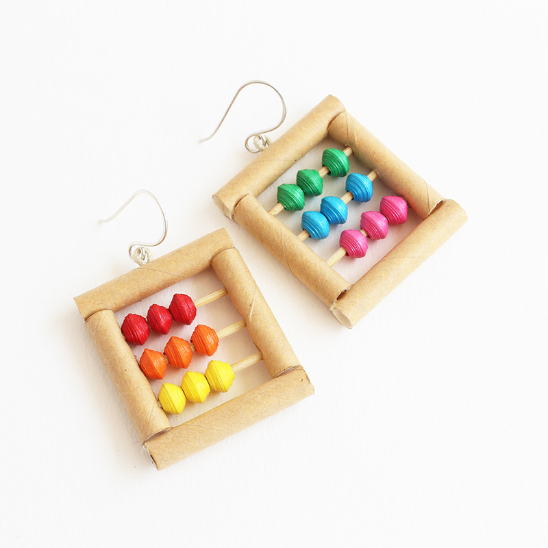 abacus dangle earrings