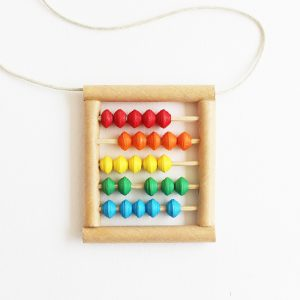 colorful abacus necklace