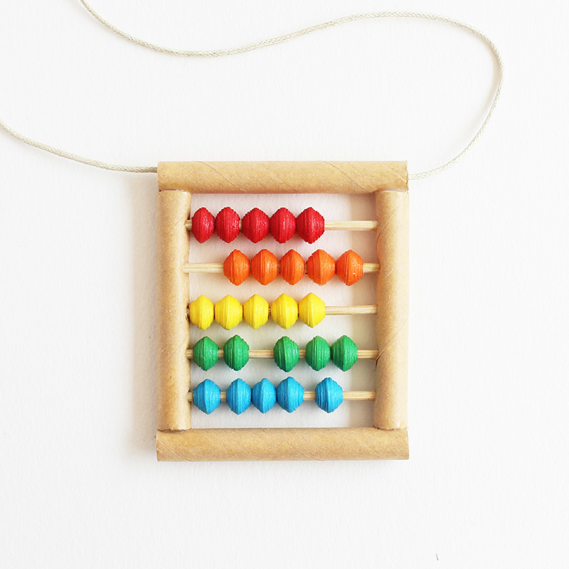 colorful abacus necklace - back to school gift