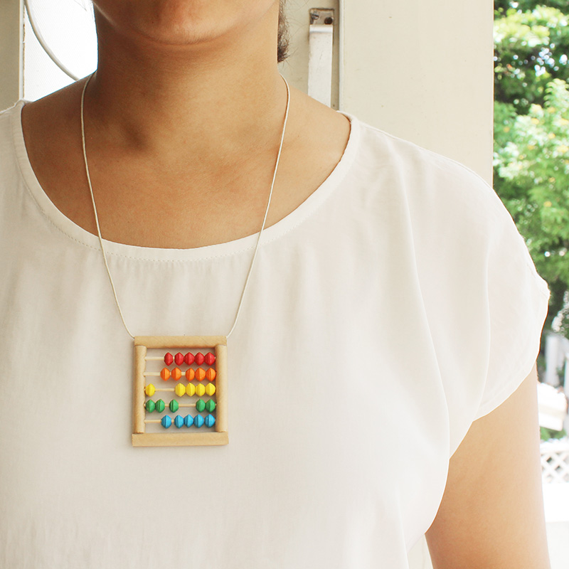 mini abacus necklace