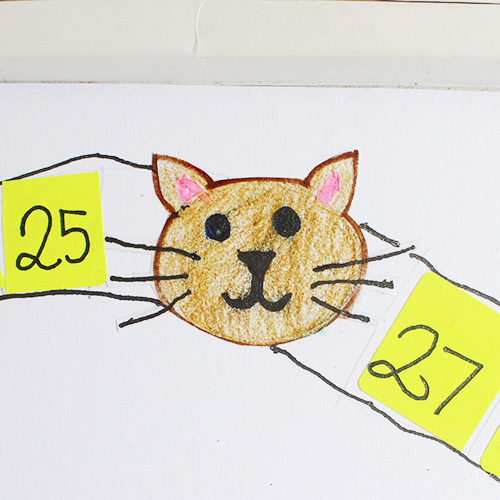 handdrawn cat for board game