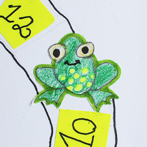 frog hand drawing by kid