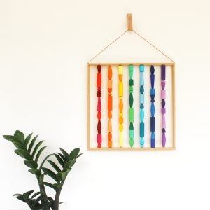 rainbow wall art colorful boho wall hanging