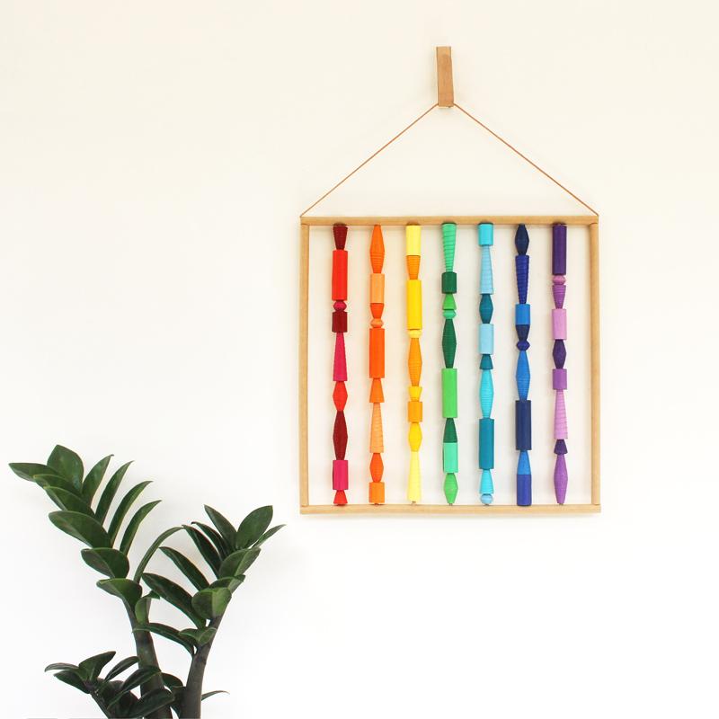 rainbow wall art colorful boho wall hanging