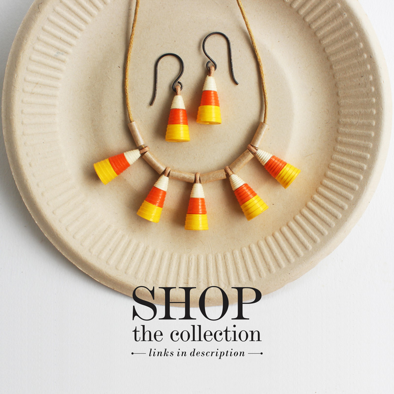 candy corn jewelry halloween thanksgiving gift