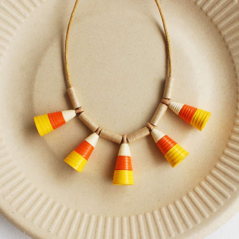 candy corn necklace halloween jewelry