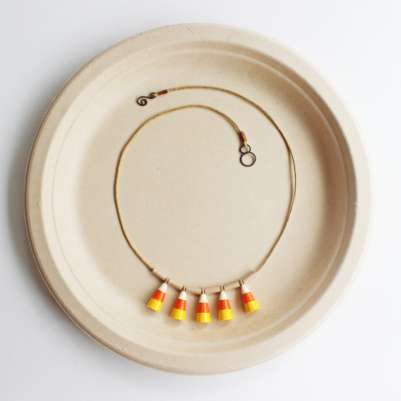 candy corn necklace eco-friendly halloween