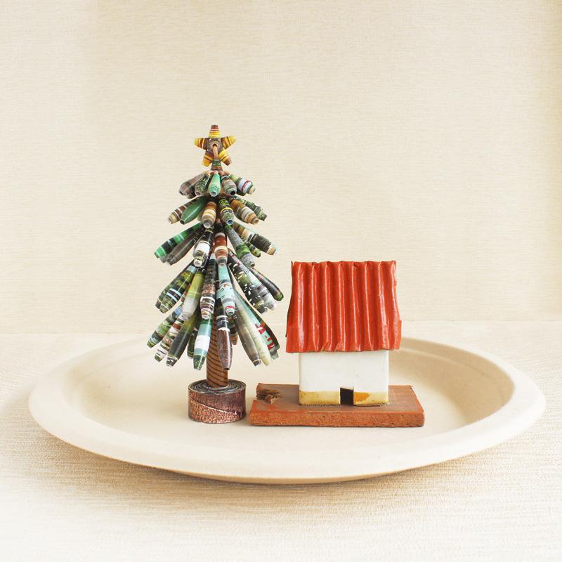 magazine christmas tree farmhouse mantel decor