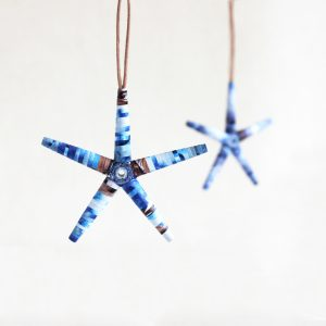 frosty blue mini star christmas ornaments