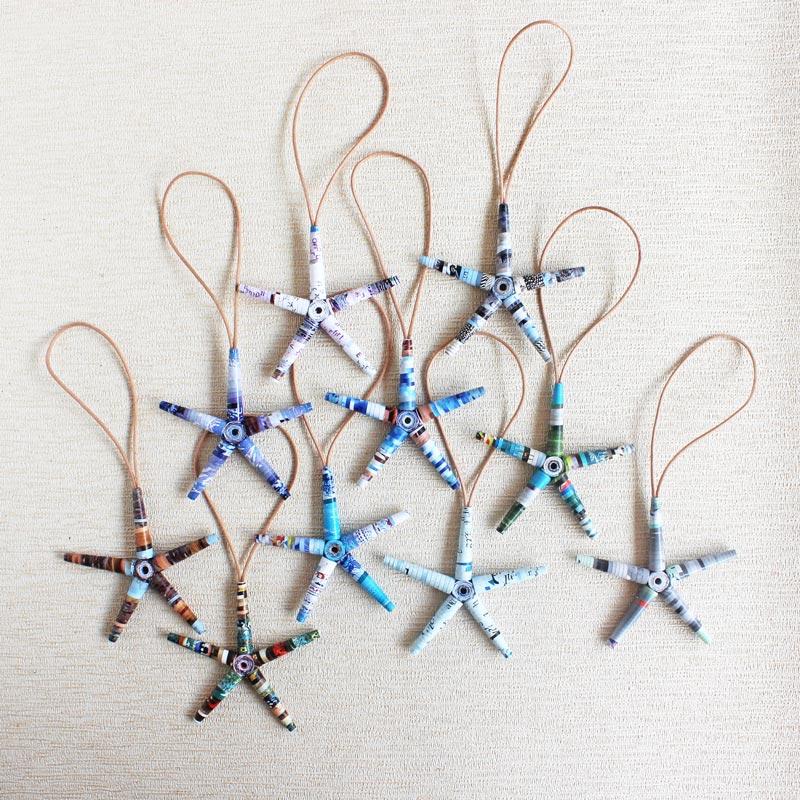 eco-friendly star ornament for eco-friendly christmas