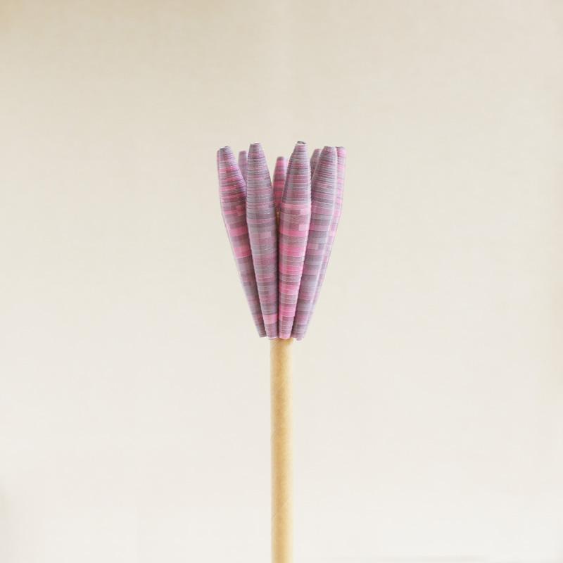 blush tulip artificial flower stem pink