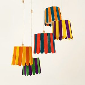 DIY wind chimes upcycled materials