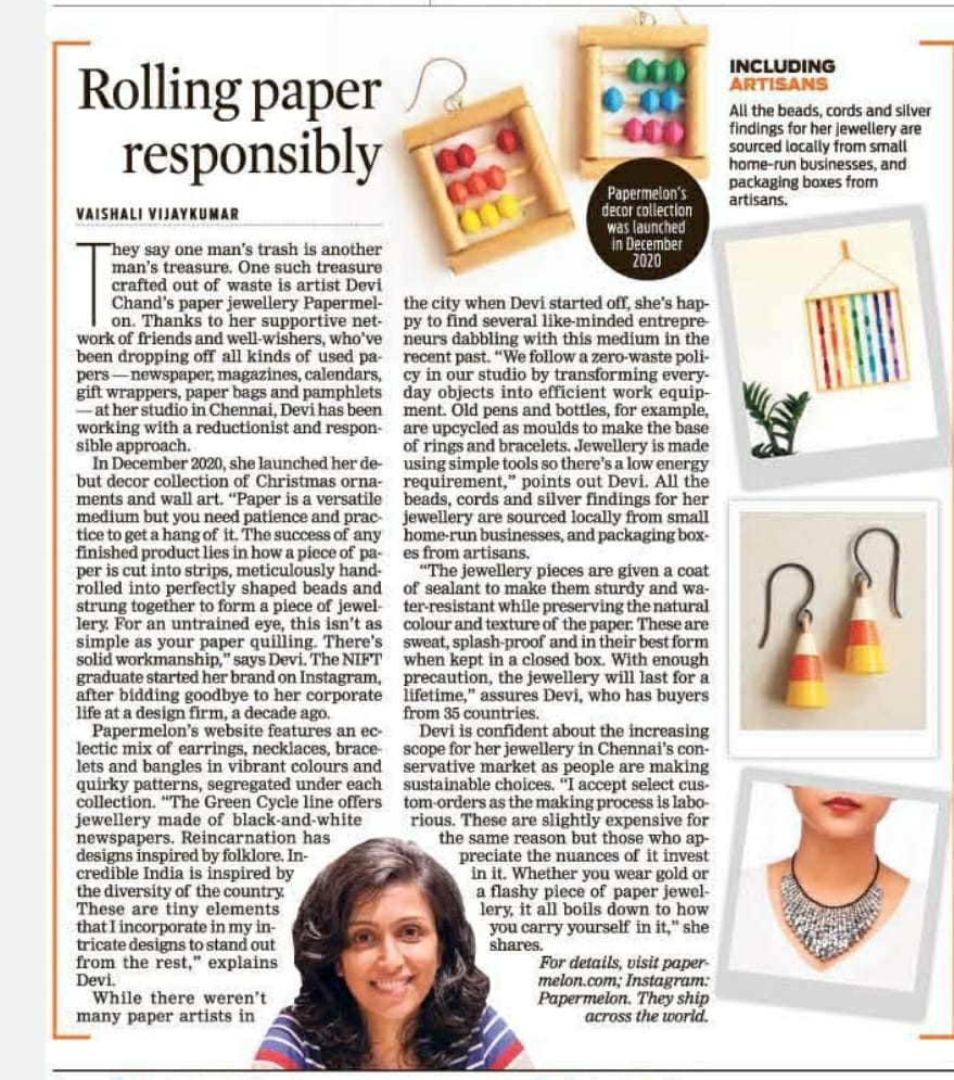 Papermelon featured on The New Indian Express